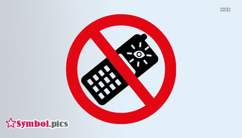 No Camera Phones Symbol | Red Safety Symbol