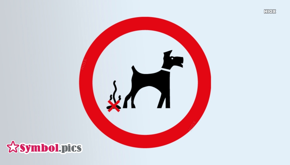 No Dog Mess Symbol | Red Safety Symbol