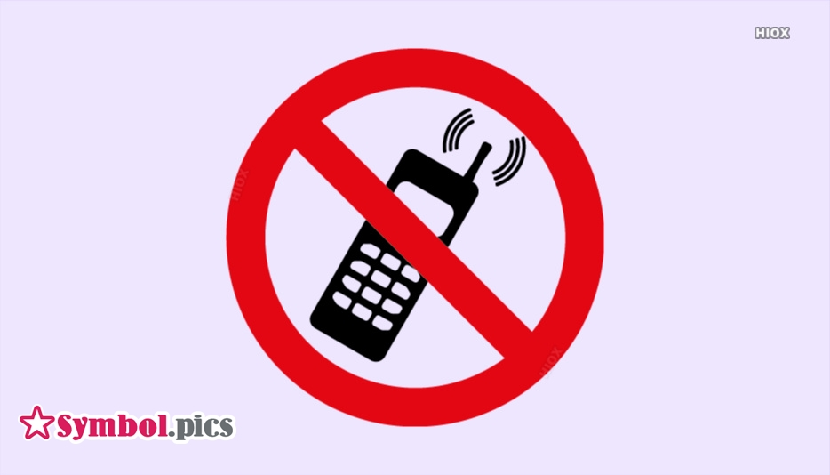 No Mobile Phones Symbol | Red Safety Symbol