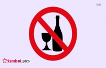 No Bottle And Glasses Symbol | Red Safety Symbol