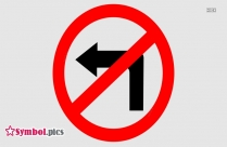No Right Turn Sign, Symbol