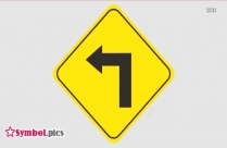 Right U Turn Sign Traffic Symbol
