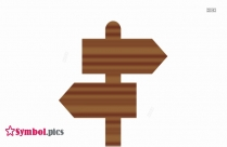 Wooden Sign Board Symbol